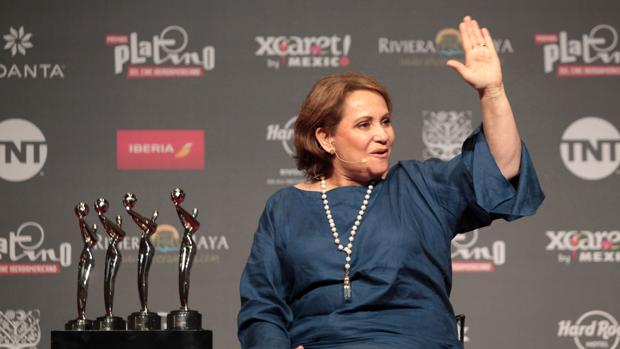 Adriana Barraza, en la entrega del Platino de Honor