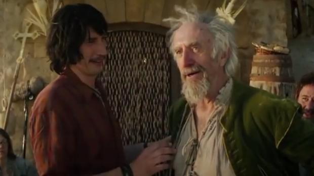 Fotograma del tráiler de «El hombre que mató a Don Quijote», de Terry Gilliam