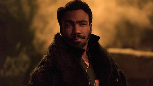 Donald Glover es Lando Calrissian en Han Solo: una historia de Star Wars
