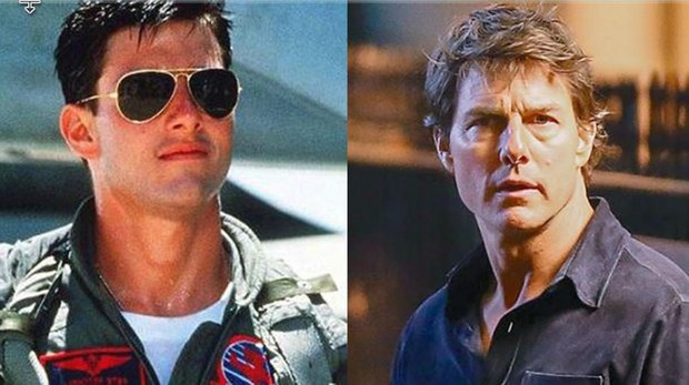 El antes y el después de Tom Cruise