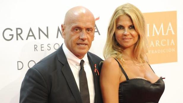 Kiko Matamoros y Makoke en la gala de Eva Longoria en 2012 en Marbella