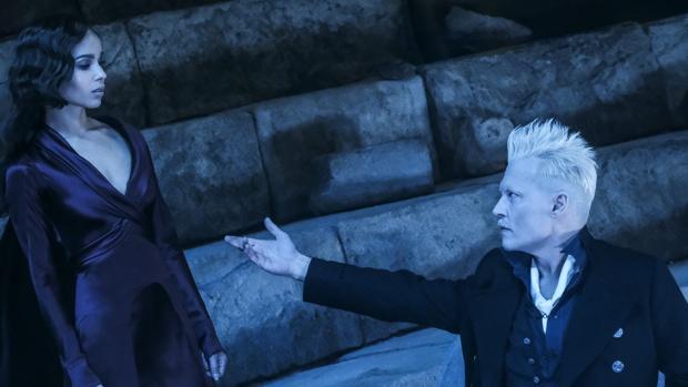 Escena de «Animales Fantásticos: los crímenes de Grindelwald», con Johnny Depp
