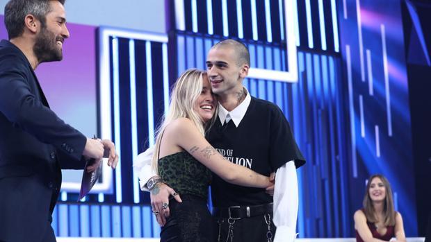 María, junto a su novio la pasada semana en «OT 2018»
