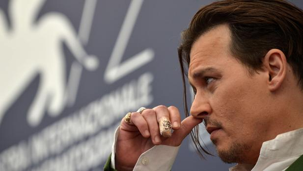 Johnny Depp, en una fotografía de archivo durante la presentación de «Black Mass» en Venecia en 2015