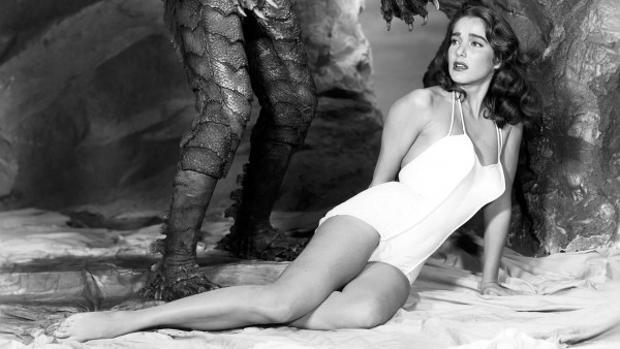 Julie Adams en «La mujer y el monstruo»