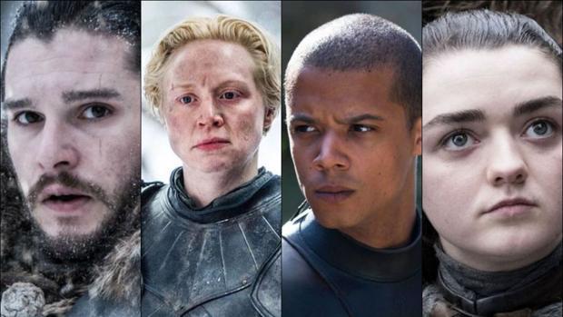 Jon Nieve (Kit Harington), Brienne de Tarth (Gwendoline Christie), Gusano Gris (Jacob Anderson) y Arya Stark (Maesie Williams) lucharán por los vivos en la Gran Guerra de «Juego de Tronos»