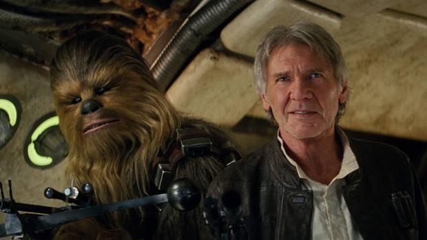 Chewbacca y Han Solo (Harrison Ford), pareja indisoluble en «Star Wars»