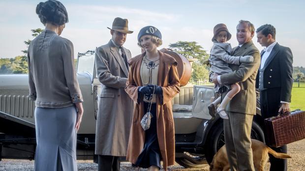 Escena del filme de Downton Abbey