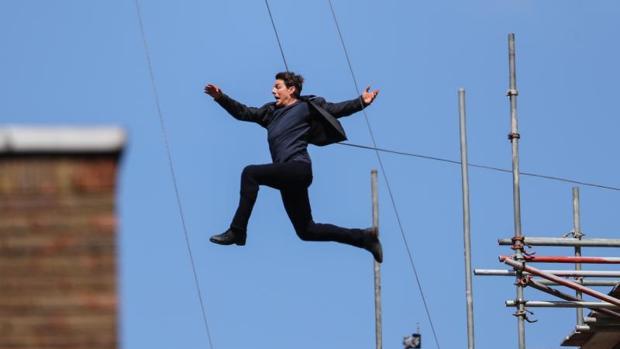 El actor Tom Cruise durante el rodaje de «Misión Imposible 6» en Londres