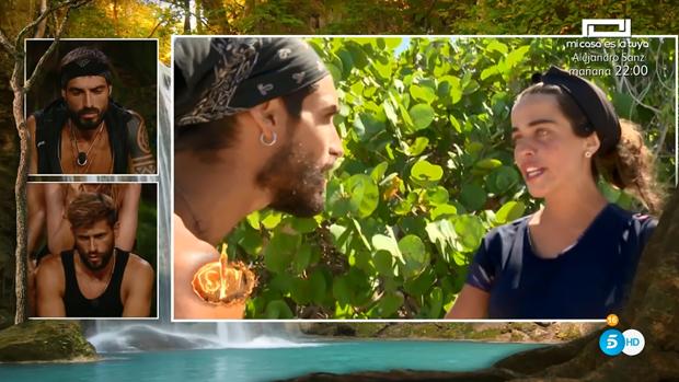 Violeta y Fabio discuten en «Supervivientes»