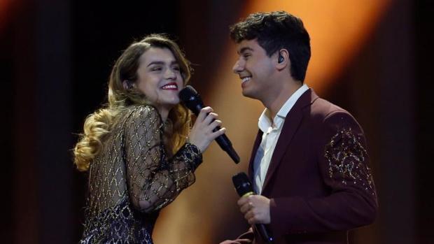 Alfred García y Amaia Romero en el festival de Eurovisión 2018