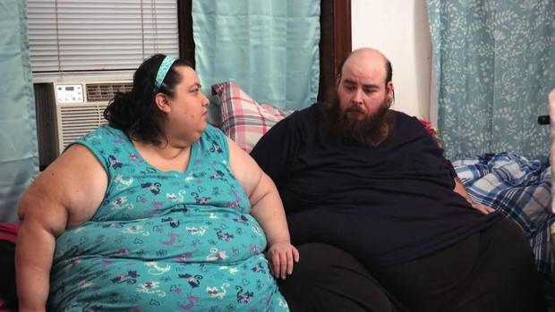 Vainey y Allen, la pareja protagonista de «Mi vida con 300 kilos»