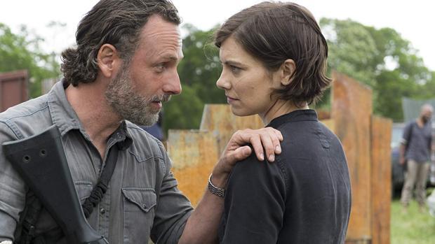 Rick Grimes (Andrew Lincoln) y Maggie (Lauren Cohan), en «The Walking Dead»