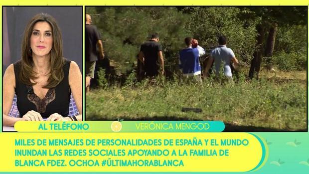 Paz Padilla presentando el especial de «Sálvame» este miércoles