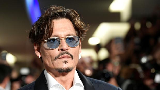 Johnny Depp, ayer en Venecia