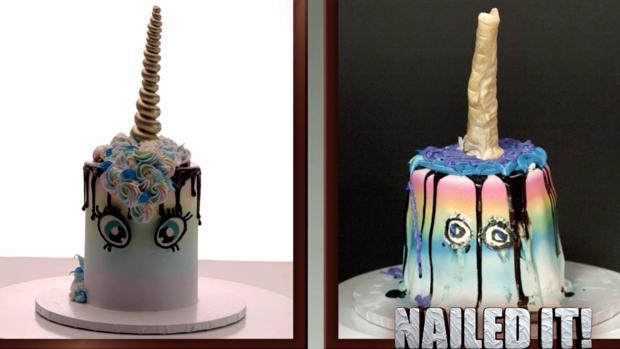 Ejemplo de uno de los resultados de las réplicas de la versión original de «Nailed it!»