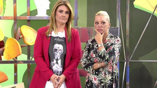 Carlota Corredera y Belén Esteban, en el plató de «Sálvame»
