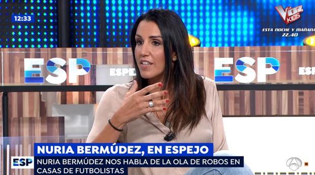 Nuria Bermúdez, en el plató de «Espejo Público»