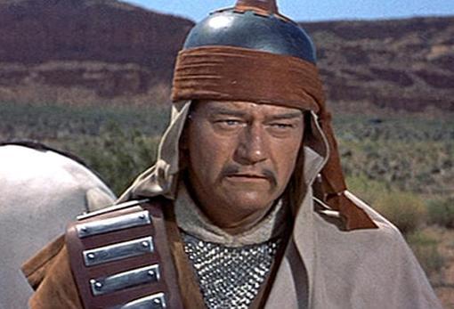 Wayne como Genghis Khan en «El conquistador de Mongolia»