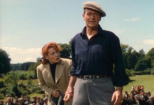 Maureen O'Hara y John Wayne en «El hombre tranquilo»