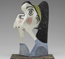 «Tête de femme» (1962), escultura del Museo Picasso de París
