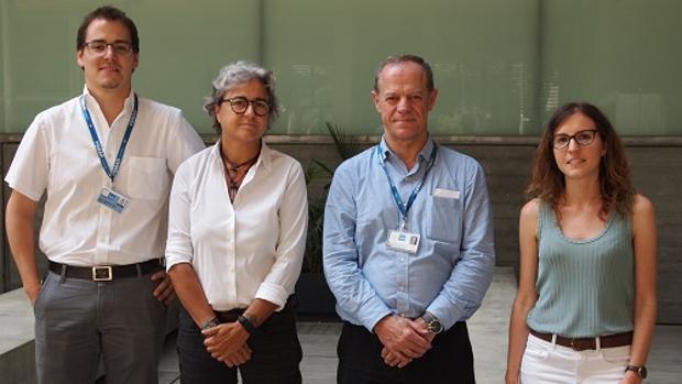 De izquierda a derecha, los investigadores Alejo Rodríguez-Vida, Ana Rovira, Joaquim Bellmunt y Anna Hernández