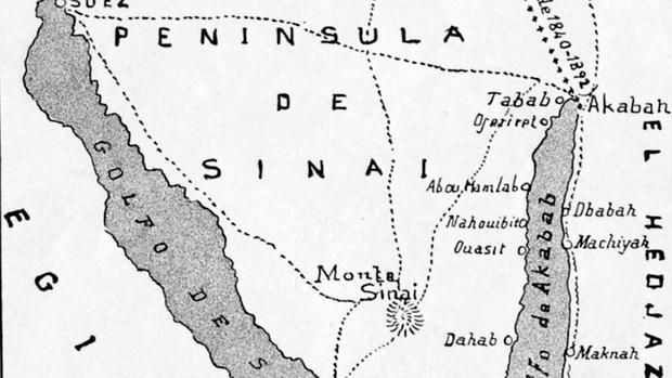 Croquis de la Península del Sinaí