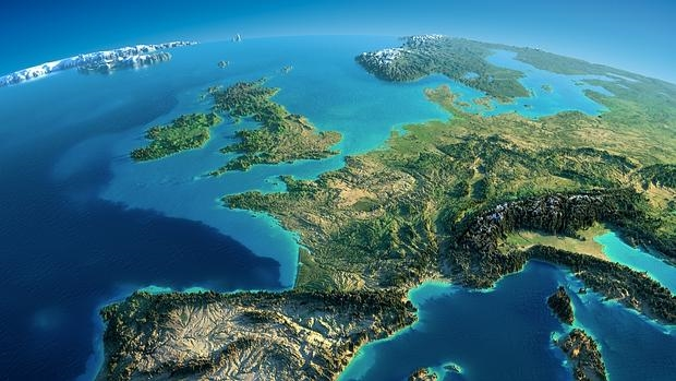Vista satélite de la Tierra por la manaña