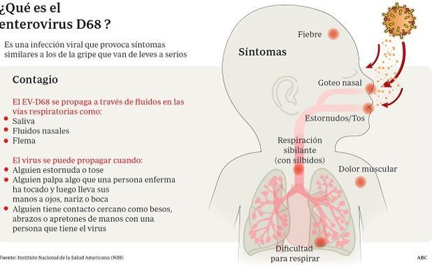 infeccion viral niños+sintomas