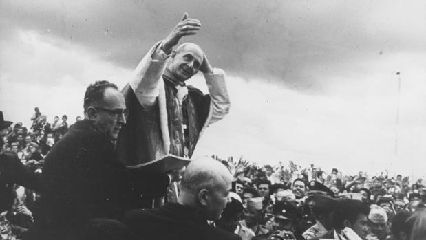 Pablo VI, durante su viaje a Bogotá, en 1968