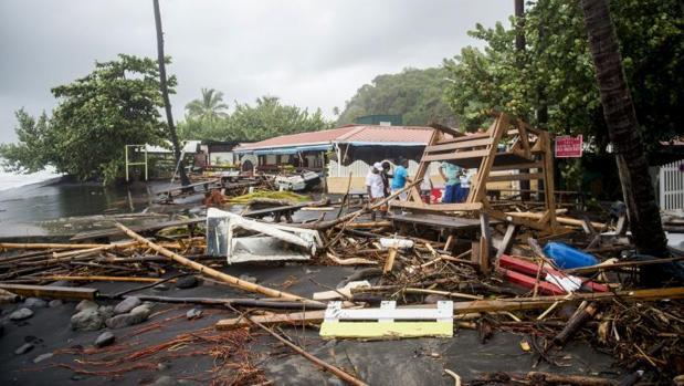 Destrozos que ha provocado el huracán María en la isla de Martinica