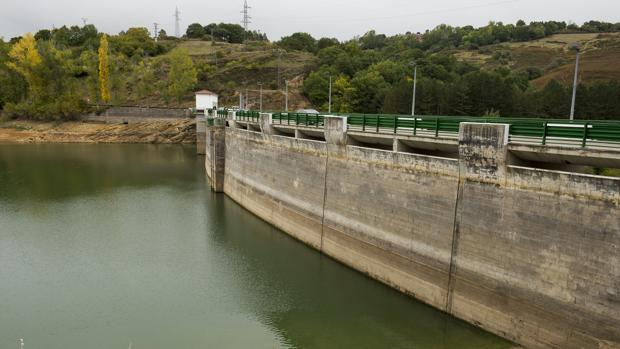 Estado del embalse del Ebro en Reinosa, Cantabria
