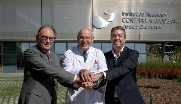 De izquierda a derecha, Antoni García, Evarist Feliu y Francesc Solé