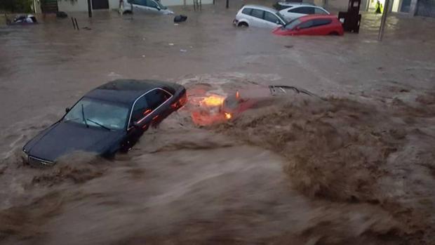 Imagen de las inundaciones en Mallorca