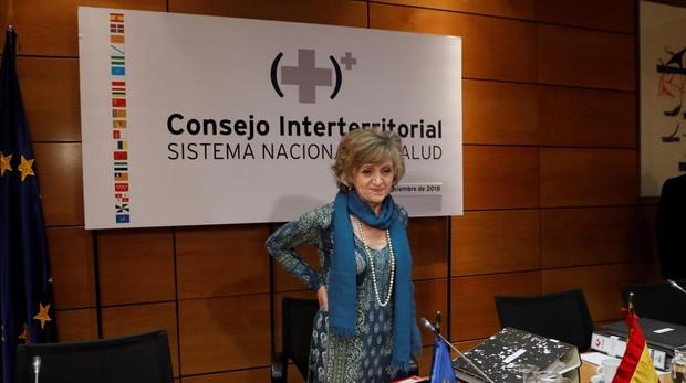 La ministra de Sanidad, María Luisa Carcedo