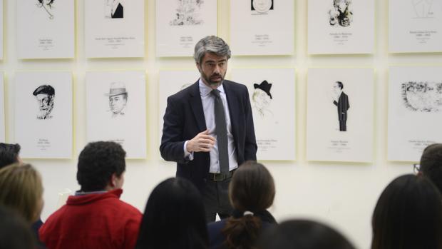 El consejero delegado de Vocento, Luis Enríquez, durante su intervención