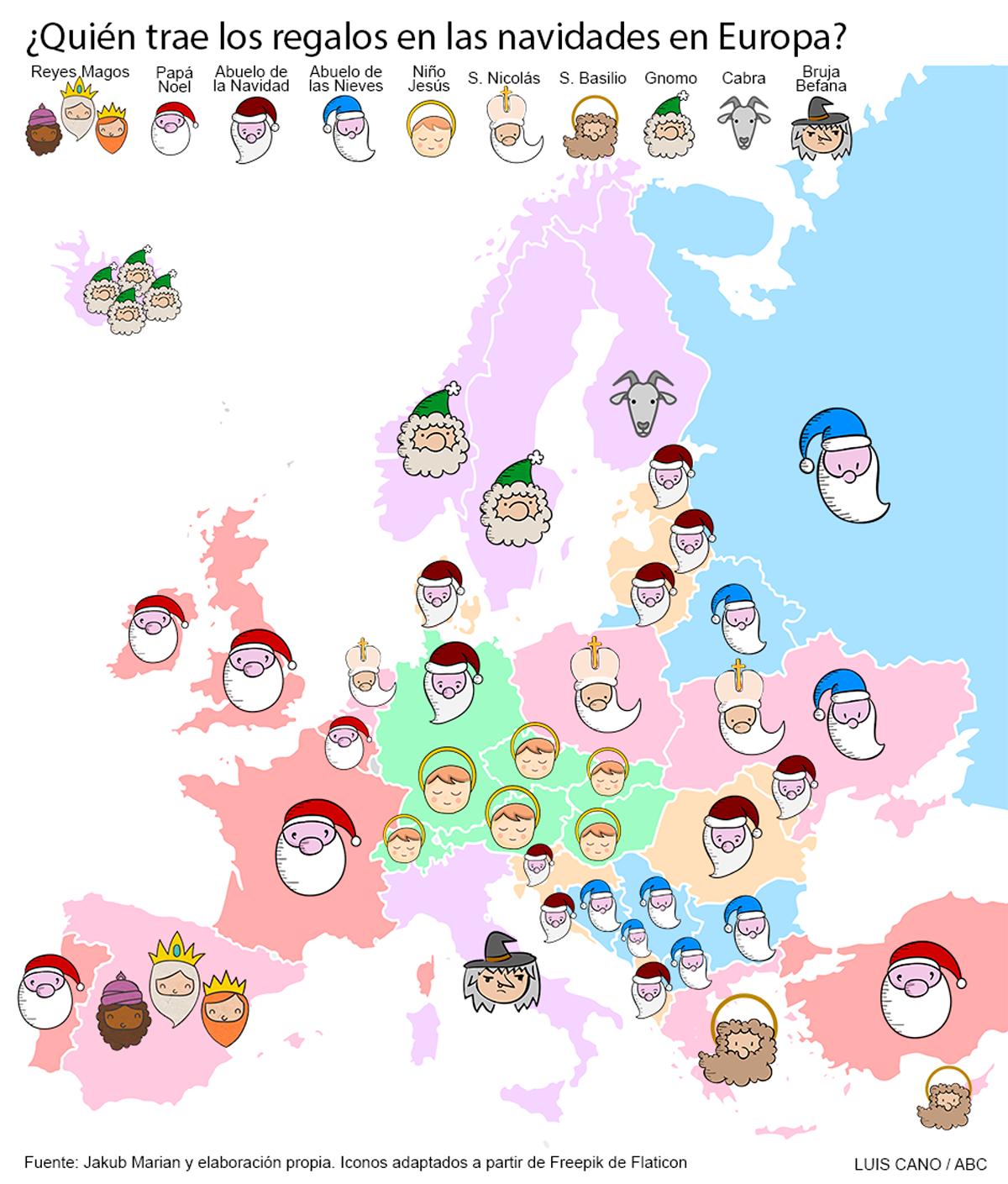 Imagenes De Papa Noel De Navidad.Quien Trae Los Regalos En Las Navidades En Cada Pais De Europa