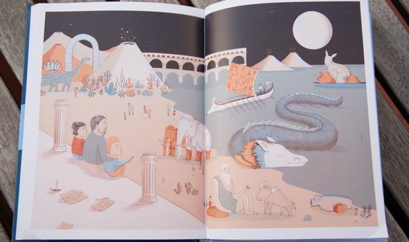 Páginas del libro de cuentos de Oriol Junqueras