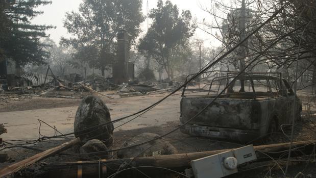 Imagen del paisaje tras el incendio