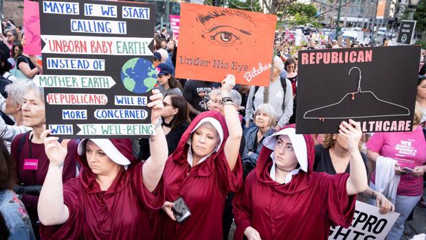 Manifestación a favor del aborto en Nueva York