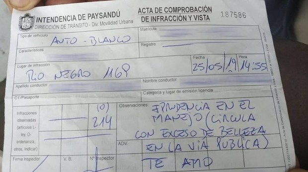 Imagen de la multa