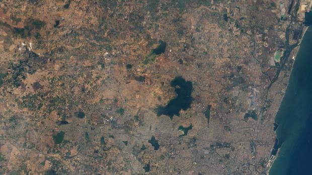 Imagen satelital de la ciudad india de Chennai