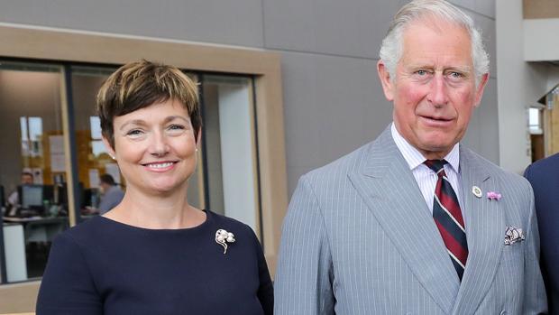 El Príncipe Carlos, junto a Rachel Clacher