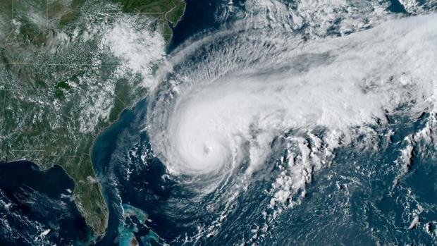 Foto satélite del huracán Humberto