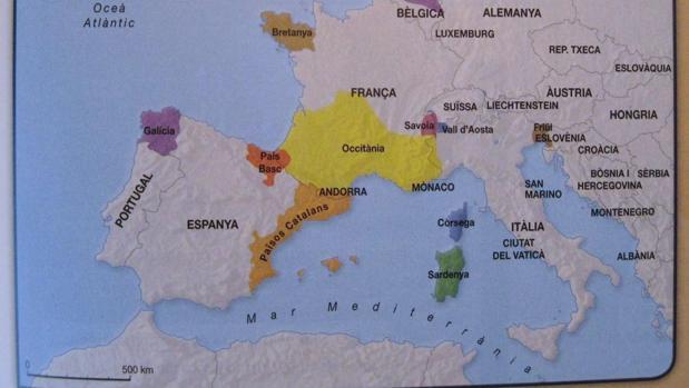 Los libros de los niños catalanes consideran a Cataluña un país independiente de España