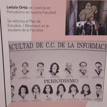 The graduation border of Letizia Ortiz's degree
