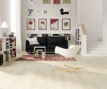 Un linóleo con aspecto –y sensaciones– de madera natural