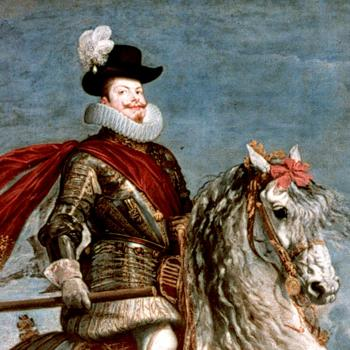 Retrato ecuestre de Felipe III en el que luce «La Peregrina»