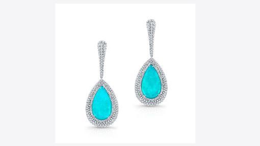 Pendientes de paraíba y diamante