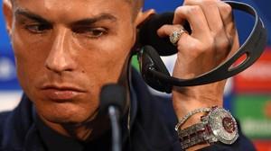 El reloj de dos millones de euros de Cristiano Ronaldo